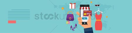 Customers : Mobile shopping banner