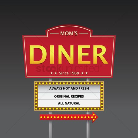 Old fashioned : Mom s dinner signboard