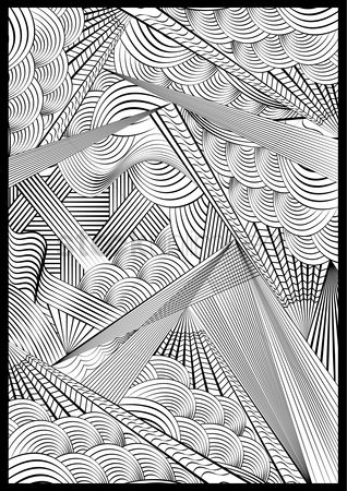 Lines : Monochrome pattern design