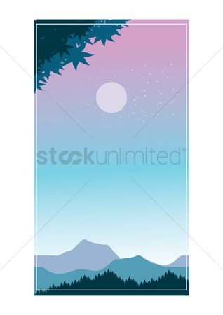 App : Moon in the sky background