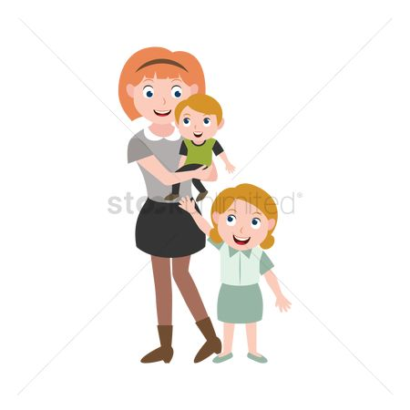 Character : Mother and kids