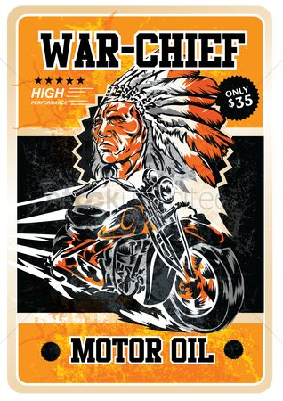 Motorcycles : Motor oil poster