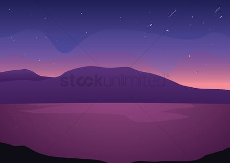 Sceneries : Mountains background design