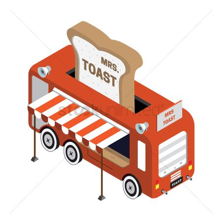 Awning : Mrs toast truck