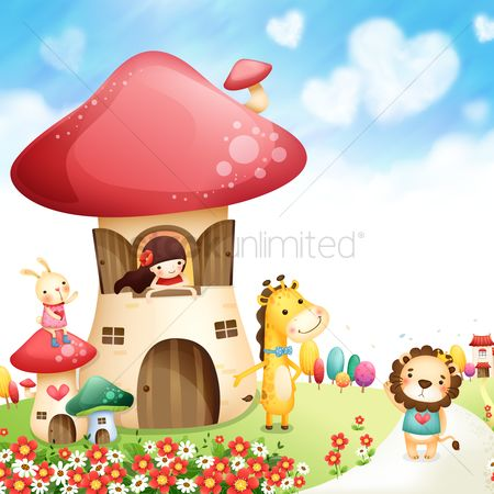 Cartoon : Mushroom play house