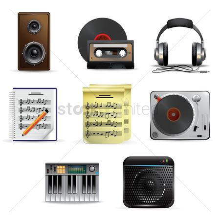 Notebooks : Music and audio equipment set
