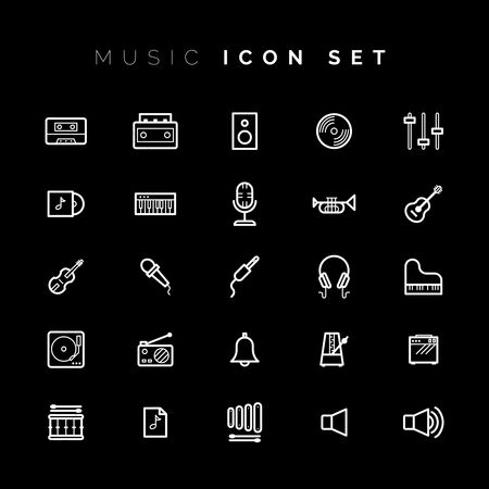 Old fashioned : Music and audio icons