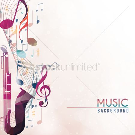 Brass : Music background design