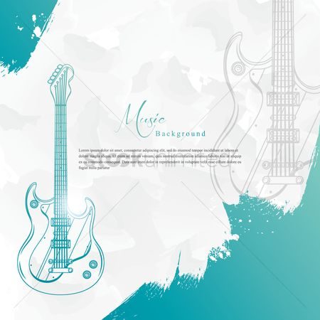 Brushes : Music background with electric guitar