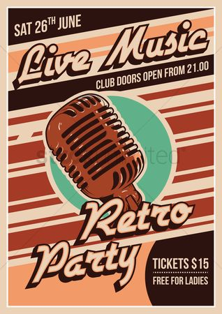 Microphone : Music event poster