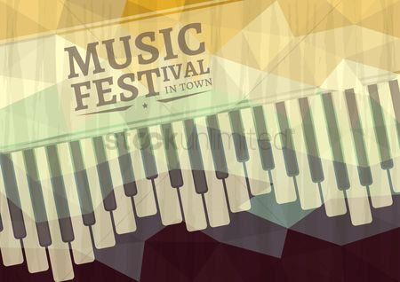 Commercials : Music festival in town poster design