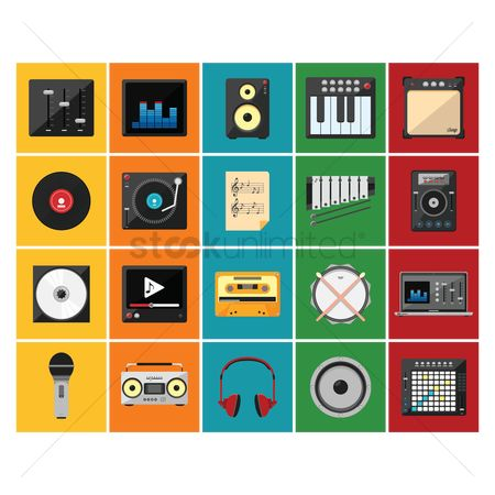 Pad : Music icons