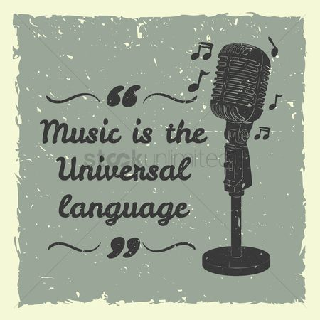 Broadcasting : Music is the universal language