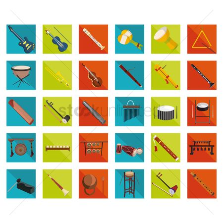 Trumpets : Musical instrument icons