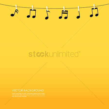 Backdrops : Musical notes hanging