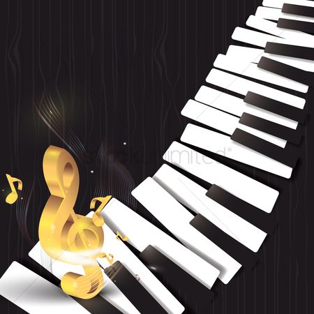 Melody : Musical piano design