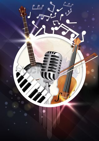 Broadcasting : Musical poster design