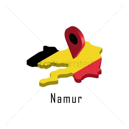Navigators : Namur map with map pointer