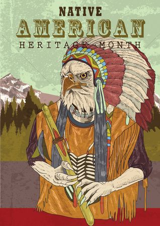Headdress : Native american heritage poster
