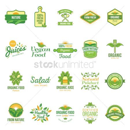 Products : Natural labels set