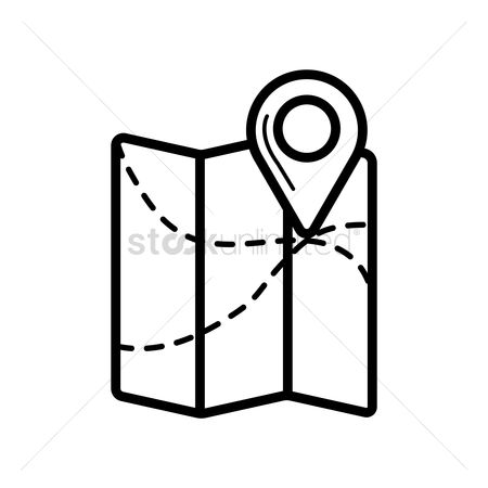 Navigators : Navigation pointer on folded map