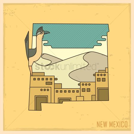 White sands : New mexico state map