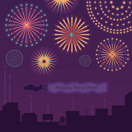 Aeroplanes : New year celebration