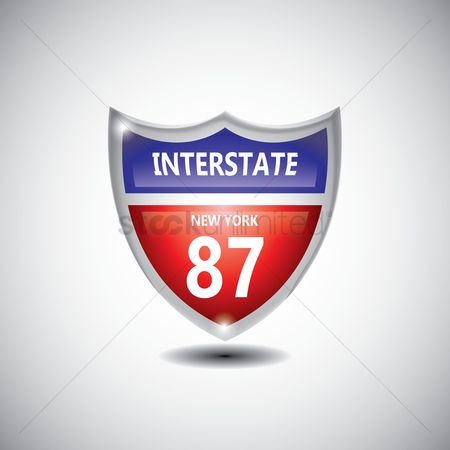Interstates : New york h-87 route sign