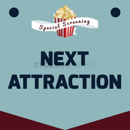 Popcorns : Next attraction poster