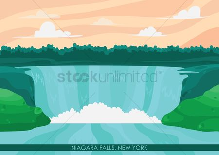 New york : Niagara falls wallpaper