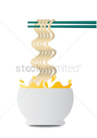 Unhealthy eating : Noodles