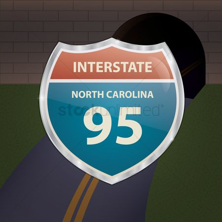 Interstates : North carolina 95 route sign