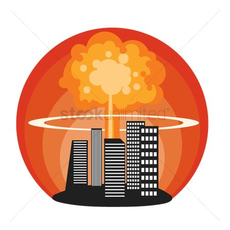 Smokes : Nuclear explosion in city