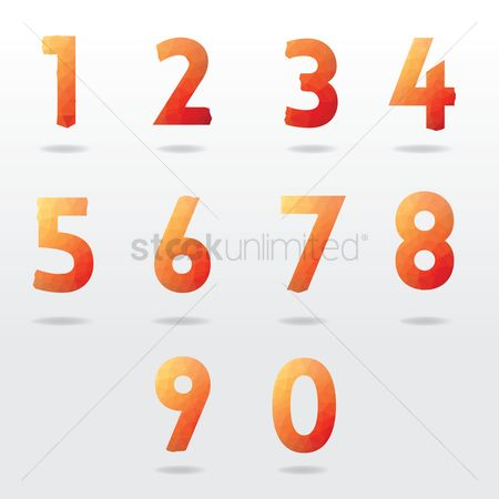 Fonts : Numbers collection