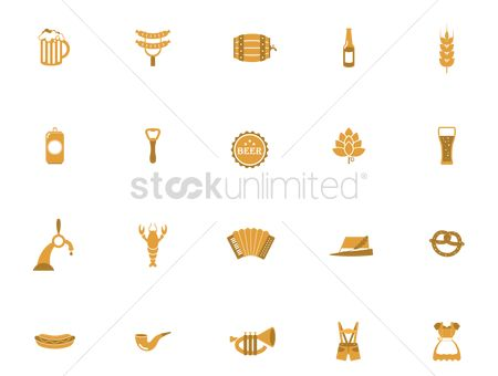 Hotdogs : Octoberfest icons