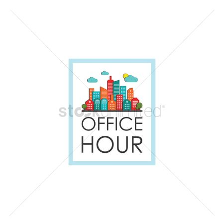Office  building : Office hour label