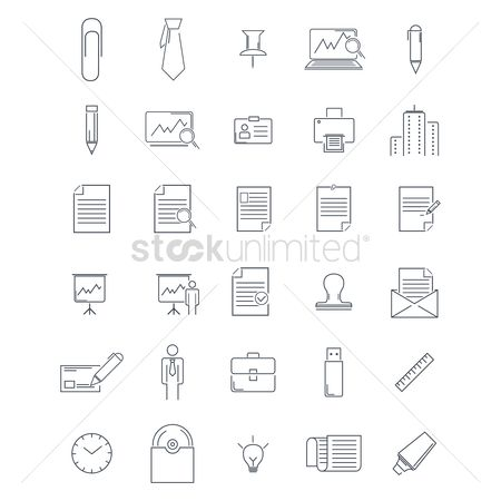 Ties : Office icon set