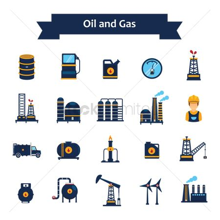 Lorries : Oil and gas icons