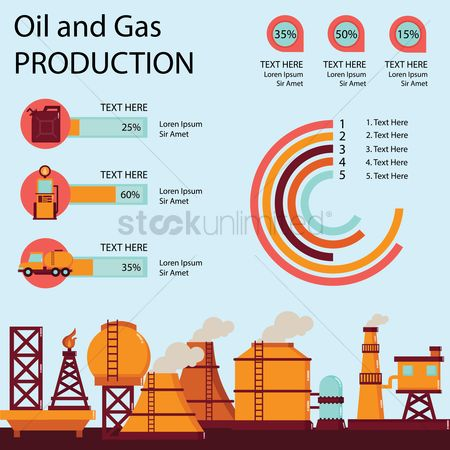 Gases : Oil and gas infograph