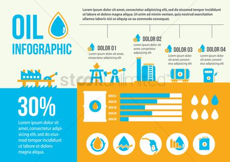 Petroleum : Oil refinery infographic