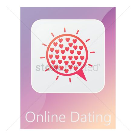 Online dating icon : Online dating mobile app icon