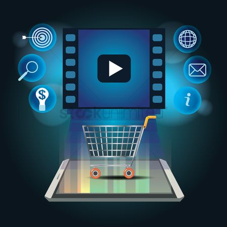 Shopping cart : Online media shopping