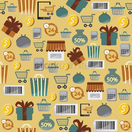 Shopping cart : Online shopping theme background