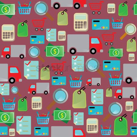 Shopping background : Online shopping theme background