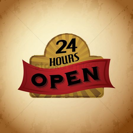 Oldfashioned : Open 24 hours signboard