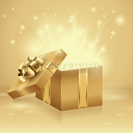 Sparkle : Opened gift box