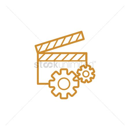 Production : Operational clapperboard icon