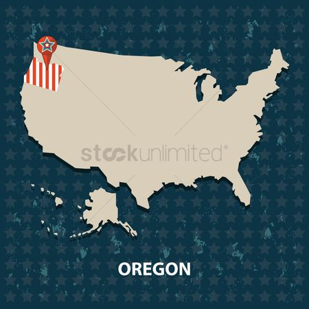 Oregon : Oregon state on the map of usa