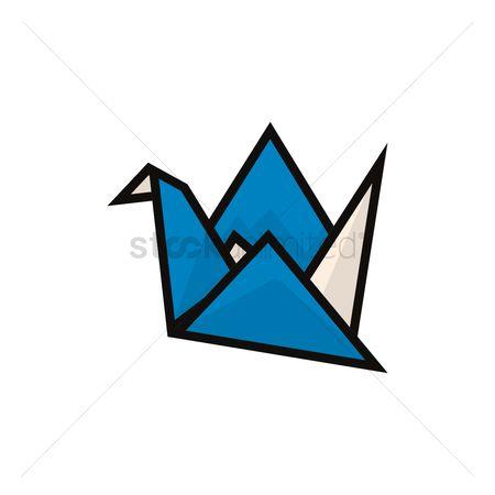 Free Origami Crane Stock Vectors