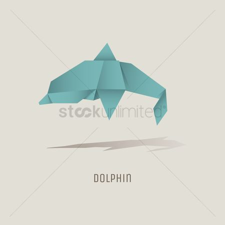 Dolphins : Origami dolphin